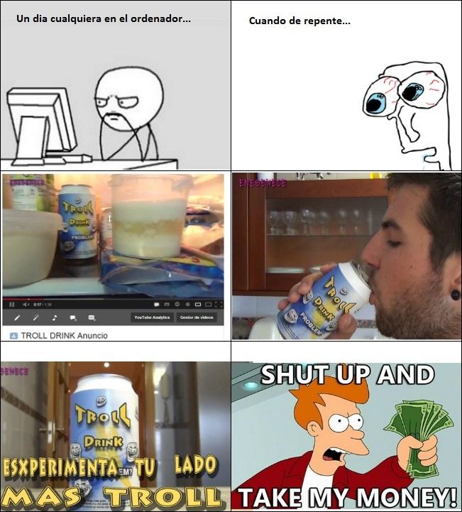 Troll Drink - meme