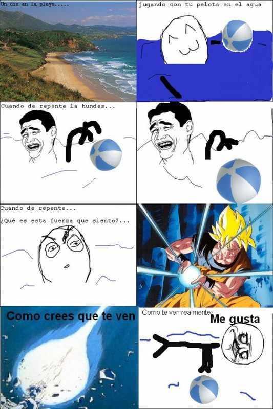 jugando con tu pelota en  el agua - meme