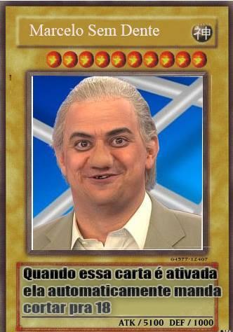 Marcelo sem dente - meme