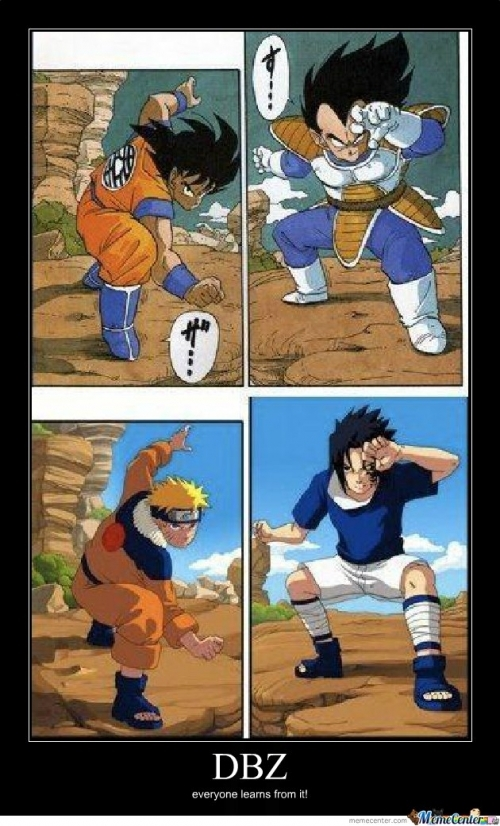 Naruto es buen programa... pero nunca igualara a Dragon Ball Z !!!! - meme