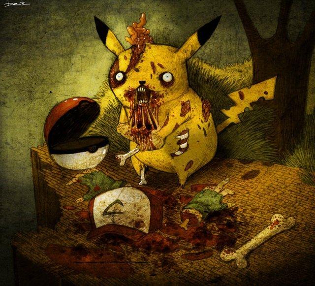 Walking Dead meets Pokemon - meme
