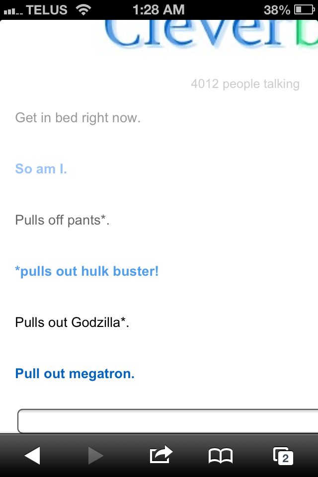 Oh cleverbot.....you always amuse me  - meme