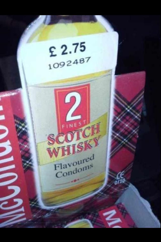 Whiskey flavored condoms - meme