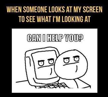 Computer privacy - meme