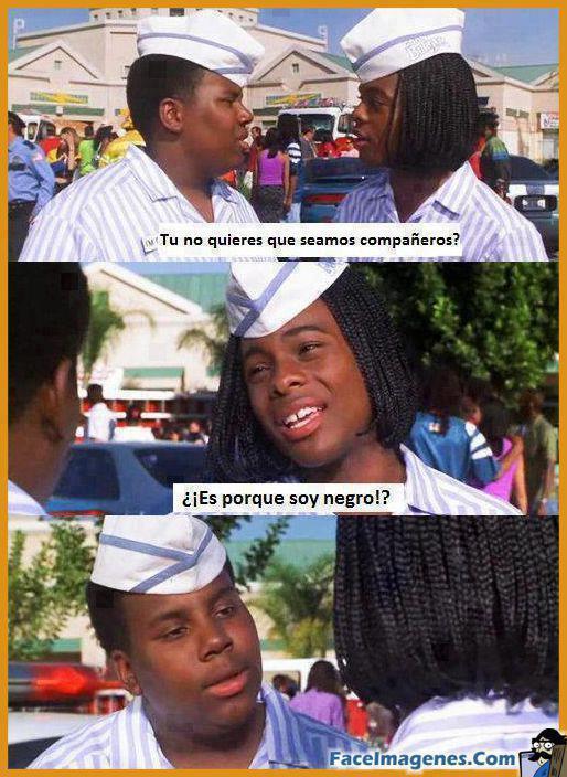Es porque soy negro? - meme