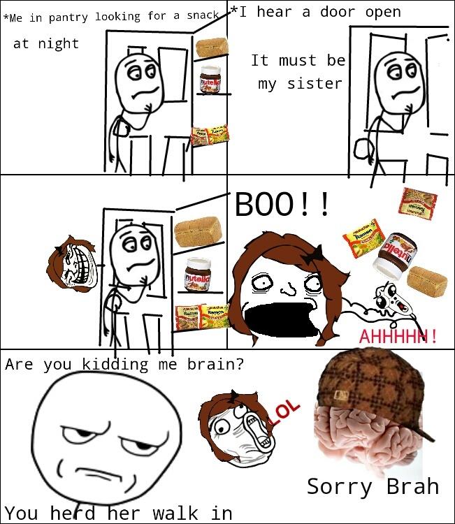 Damn you brain! - meme