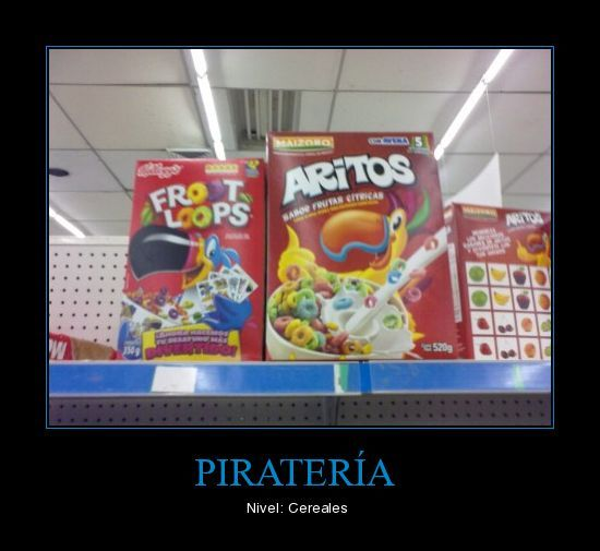 pirateria nivel cereales - meme
