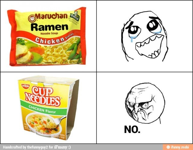No one likes you cup noodle - meme