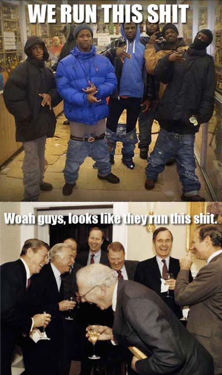Silly saggin ... - meme