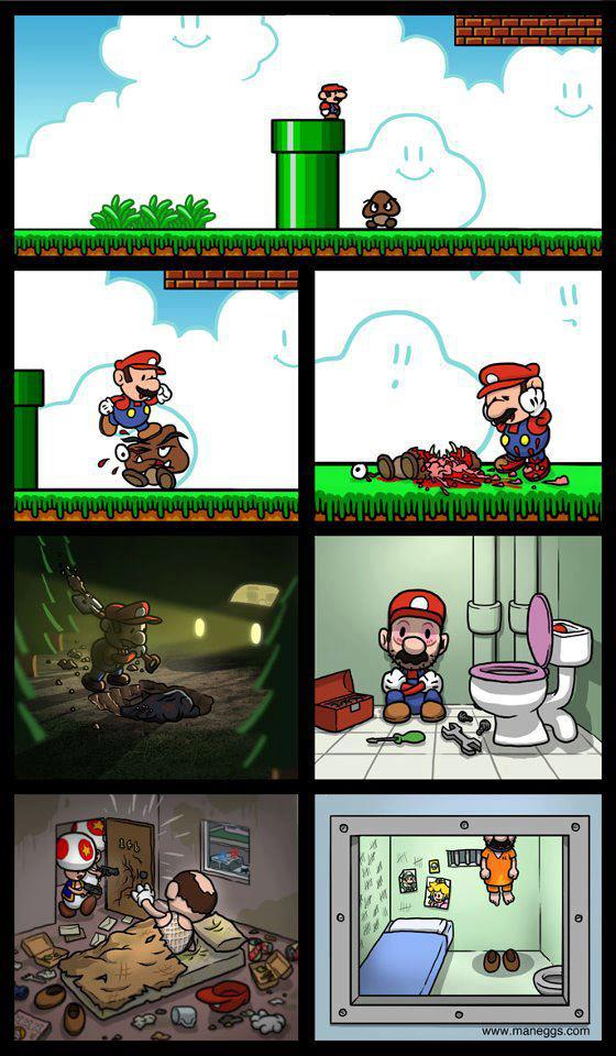 Mario arrependido - meme