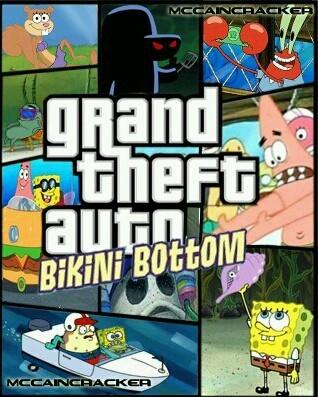 Grand theft auto Bikini Bootom - meme
