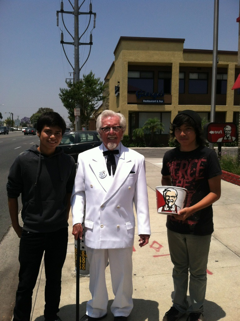 The Colonel, my friend holding the bucket, and me. :D - meme