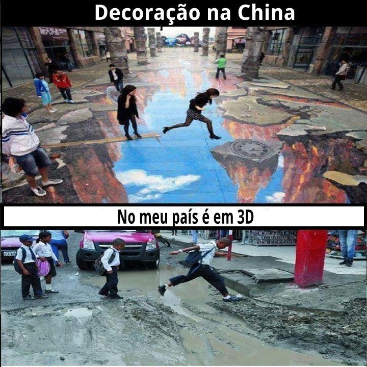 No brasil e em 3D - meme