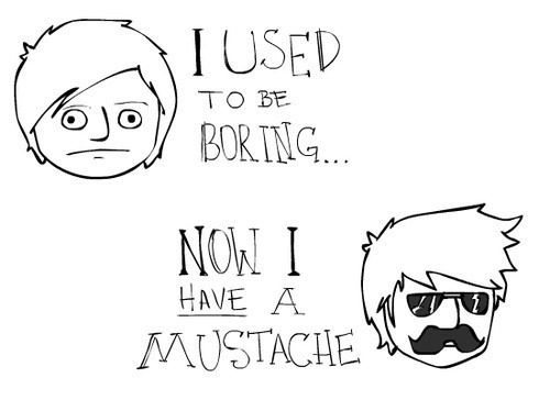 Guns don't kill people.. people with mustaches do.. - meme