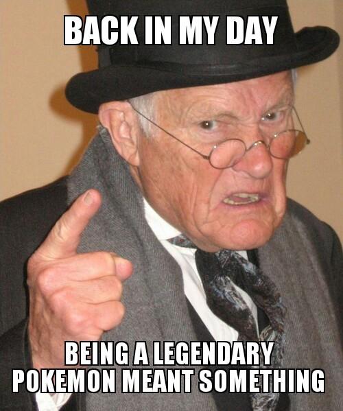 too many legendary Pokemon - meme