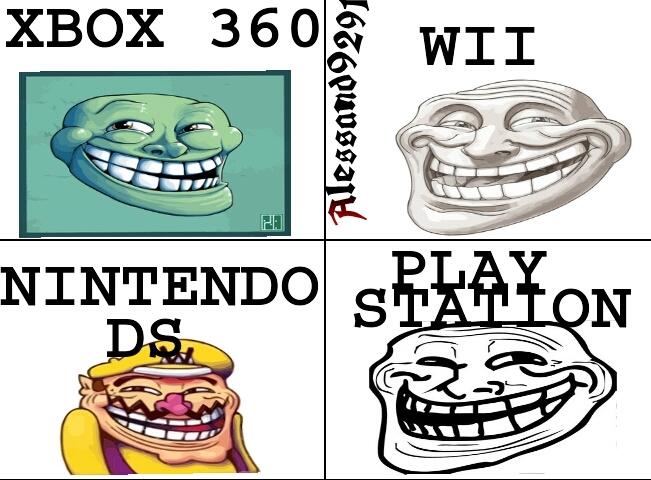 troll nelle varie console - meme