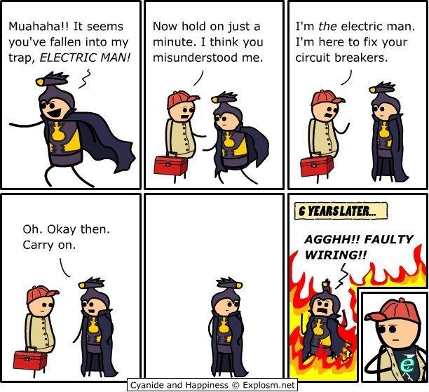 Electric man - meme