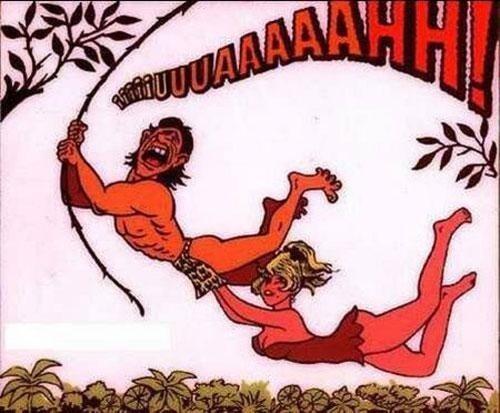 That's why tarzan screams - meme