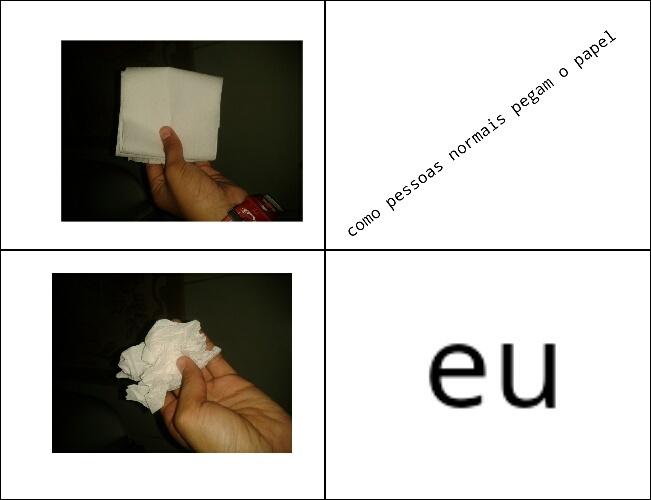 papel higiênico - meme