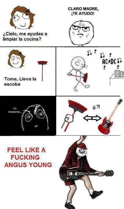 Cual es tu cancion favorita de AC/DC? - meme