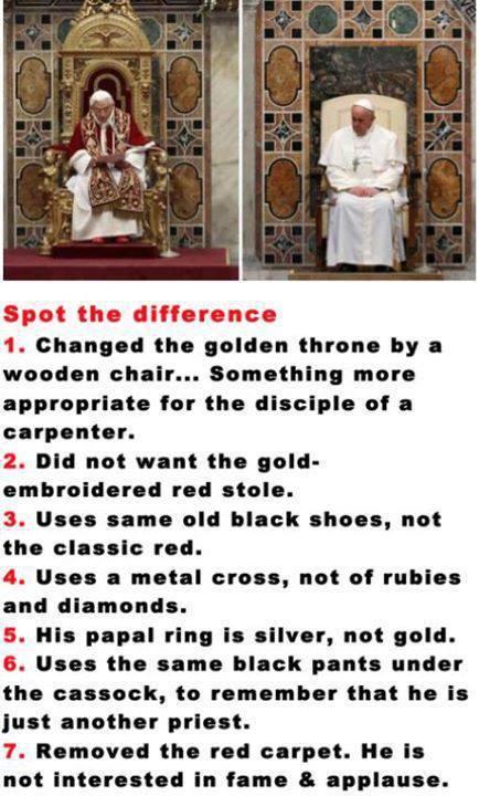 What a honest pope (: - meme
