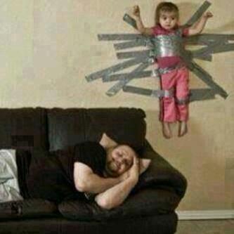 Enfin je peux dormir !!! le papa c un bâtard =-O - meme