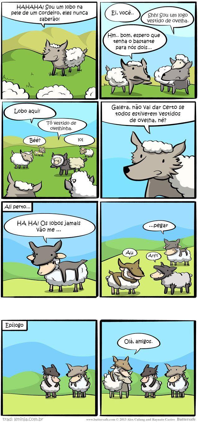 Ovelhas e lobos - meme