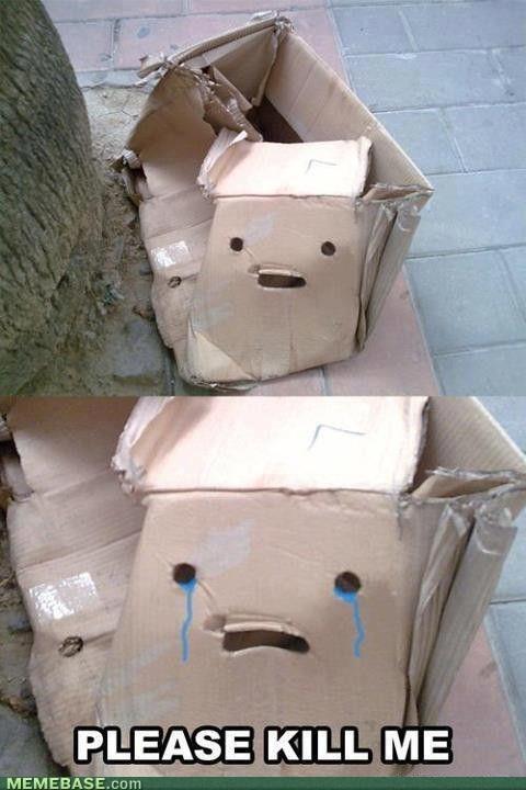 sad box needs a friend - meme