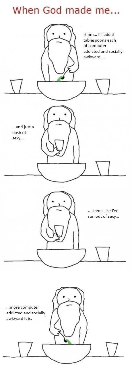 when god made me... - meme