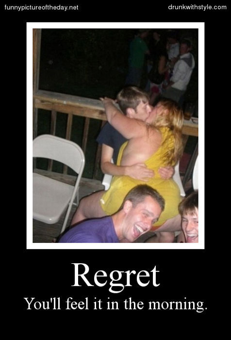 Regret comes in all shapes and sizes - meme