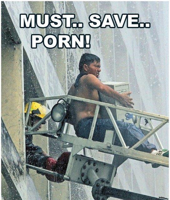 porn must be saved - meme