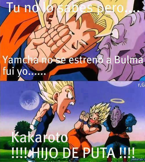 Jajaja ese Goku es todo un loquillo - meme