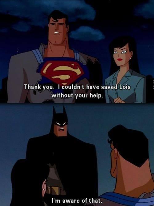 batman trolls superman - meme