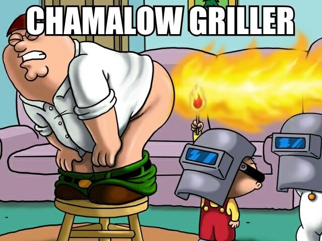 chamalow griller qui en veut - meme