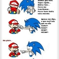 Sonic vs mario - tirinha copiada da internet