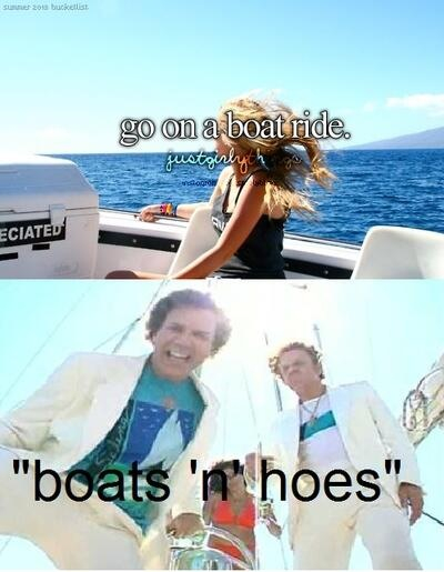 Boats and hoes - meme