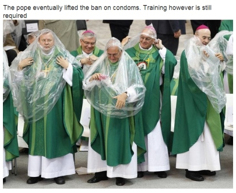 Pope lifts ban... - meme