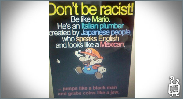 don't be racist bro - meme