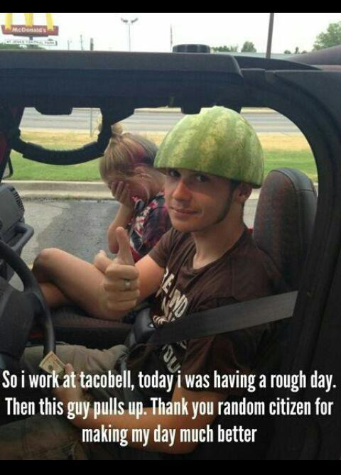 I offer free Watermelon hats. - meme