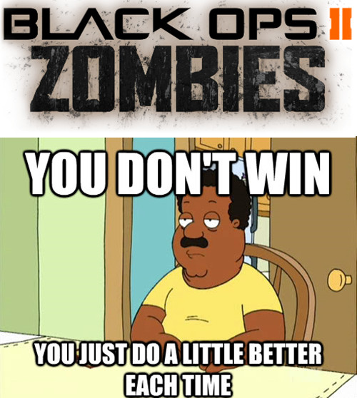 All Call of Duty is good for is zombies. Don't you agree? - meme