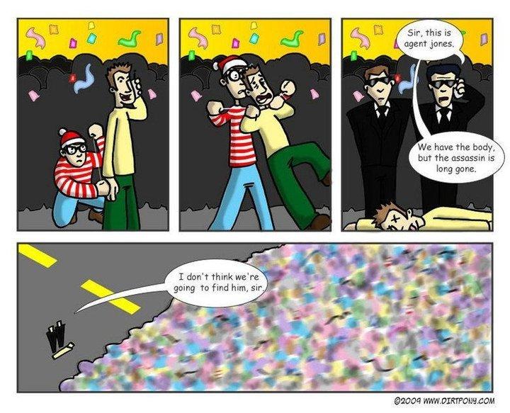 Waldos free time. - meme