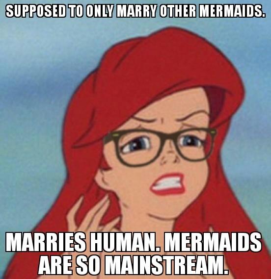 hipster Ariel - meme