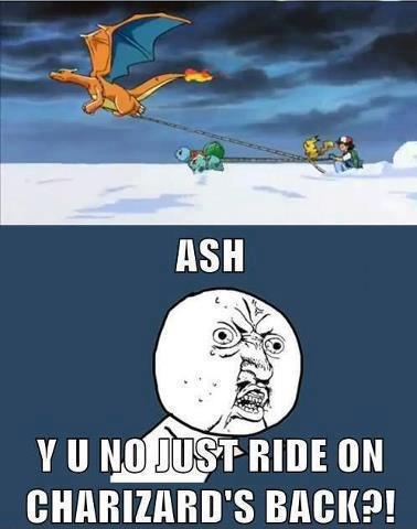 ash was never the brightest - meme