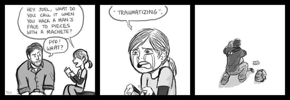 traumatising - meme