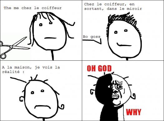 True story chez le coiffeur - meme