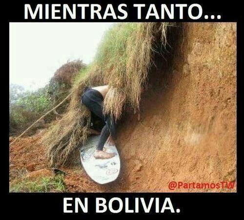 mientras tanto en bolivia - meme