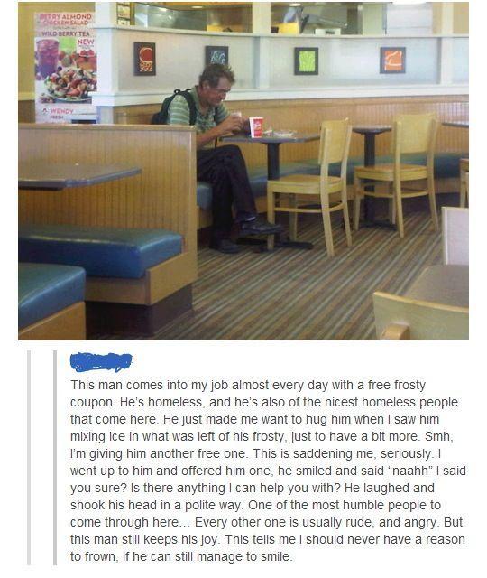 Good guy Wendy's employee - meme
