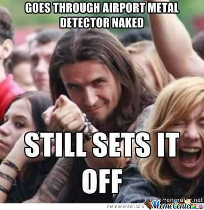 Metal level: over 9,000 - meme