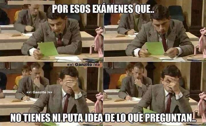 exámenes - meme