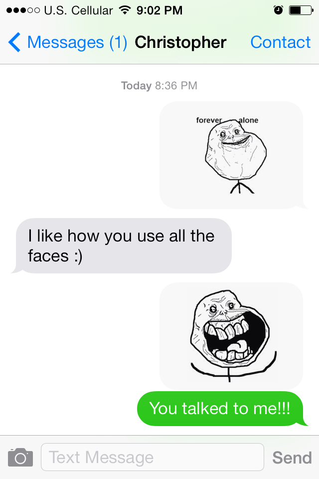 My fiancé FINALLY texting me lol - meme